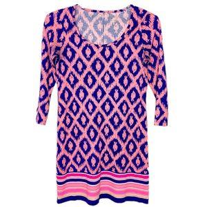 Lilly Pulitzer Printed 3/4 Sleeve Mini Dress Sz